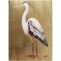 Maleri Touched Heron Left 70x50cm