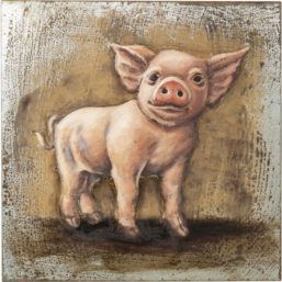 Bilde Piggy, Metall 80x80cm