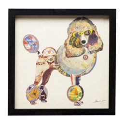 Bilde m/ramme Art Poodle 41x41cm