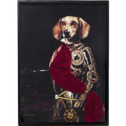 Bilde m/ramme Sir Dog 80x60cm