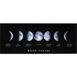 Glassbilde Mond Phase 70x180cm
