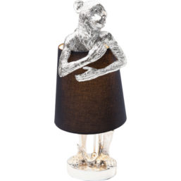 Bordlampe Animal Monkey Silver Black