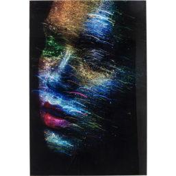 Glassbilde Face the World Profil 120x80cm