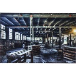 Glassbilde Factory 100x150cm