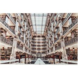 Glassbilde Library 100x150cm