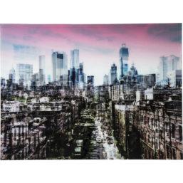 Glassbilde NY Skyline 120x160cm